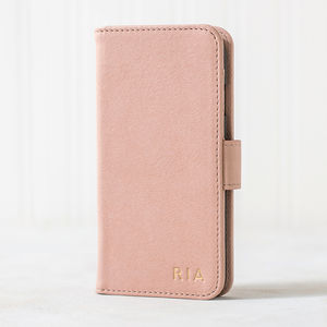 Nude Pink iPhone Case Customised In Gold - phone covers & cases