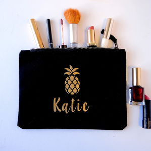 Personalised Pineapple Make Up Bag - lust list