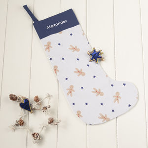 Personalised Gingerbread Christmas Stocking