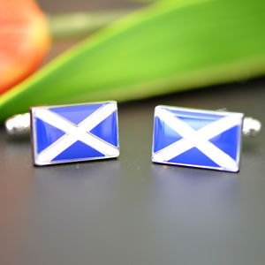 Scottish Flag Cufflinks - cufflinks