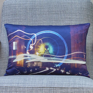 'Electric Light And Magic' Handmade Photo Cushion - what's new