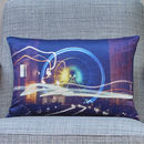 'Electric Light And Magic' Handmade Photo Cushion