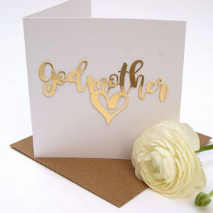 Godmother Card Luxe Gold - mother's day cards