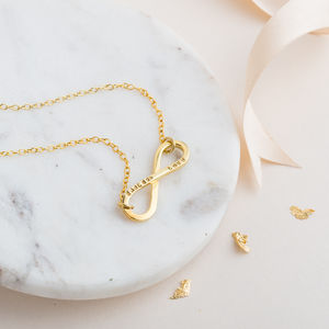 Personalised Infinity Necklace - gifts for her
