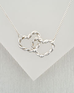 Double Twisted Love Heart Necklace