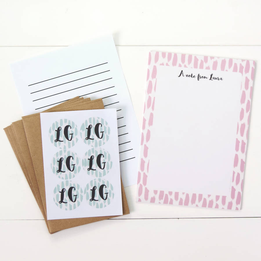 Personalised writing paper