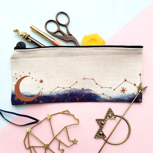Celestial Moon And Constellations Pencil Case