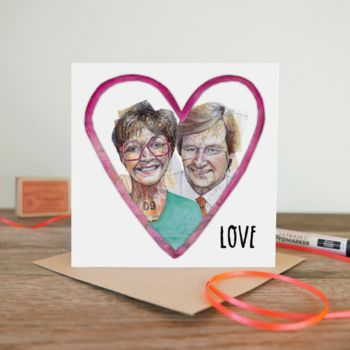 Love Ken And Deirdre Greetings Card