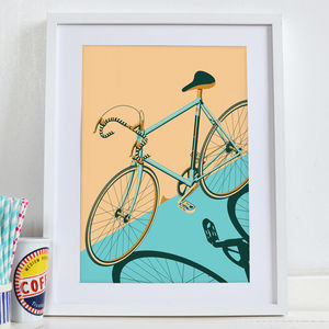 Bicycle, Bike, Bikes, Cycle Poster Wall Art Print - posters & prints