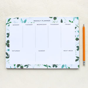 Botanical Weekly Planner Pad - academic & undated diaries and planners