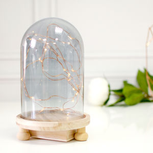 Cloche Bell Jar Lamp Hygge Fairy Lights - christmas sale