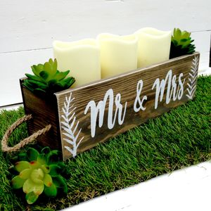 Personalised Wedding/Engagement/Table Centrepiece Gift
