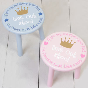 Prince And Princess Timeout Children's Stool Selection
