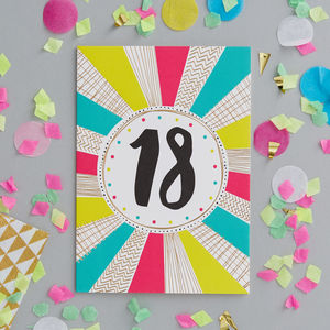18th Birthday Foiled Greetings Card - birthday cards