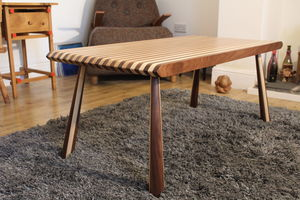 Large Humbug Coffee Table Handcrafted Ash And Walnut