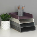Recycled Paisley A4 Stacking Tray