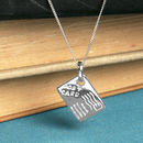 Postcard Charm Necklace In Sterling Silver