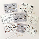 Dog Illustrated Set Of Eight Notecards