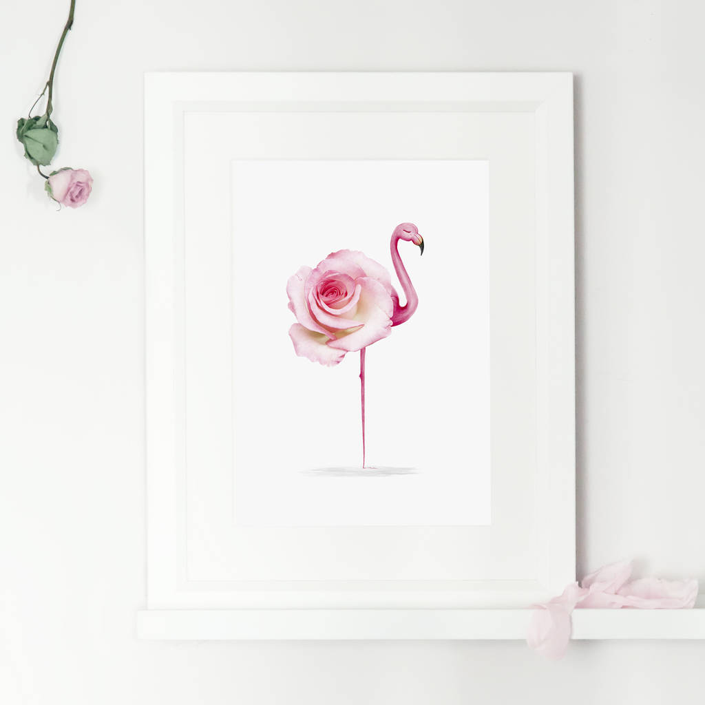 Flamingo Print Wall Art