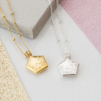 Shine Bright Pentagon Locket Necklace