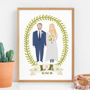 Personalised Wedding Portrait Print