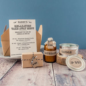 Personalised 'Dad's Relaxation Takeaway' Apothecary Kit - grooming gift sets