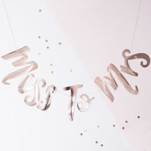 Rose Gold Miss To Mrs Hen Party B Bunting