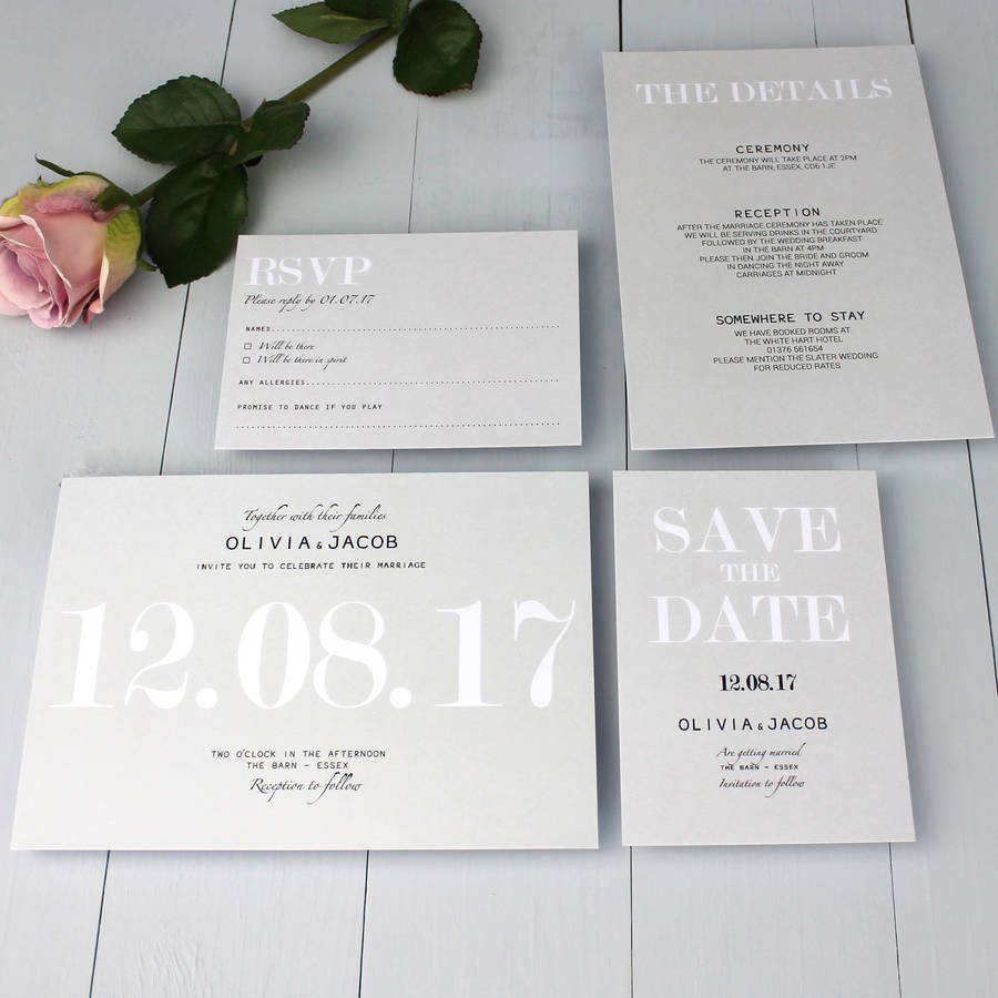 modern traditional wedding invitation by beija flor studio ...