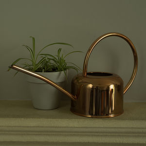 Copper Plated Watering Can - garden