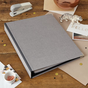 Personalised Ring Binder In Linen - planning & organising