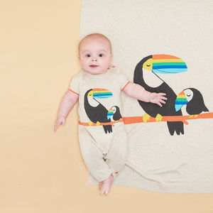Nars Organic Cotton Toucan Baby Playsuit