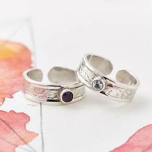 Gemstone Midi Ring Or Toe Ring - rings