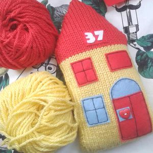 Personalised House Knit Kit Children's Room Decoration
