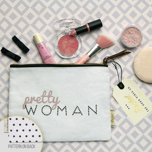 Make Up Bag With Slogan And Pattern 'Pretty Woman'