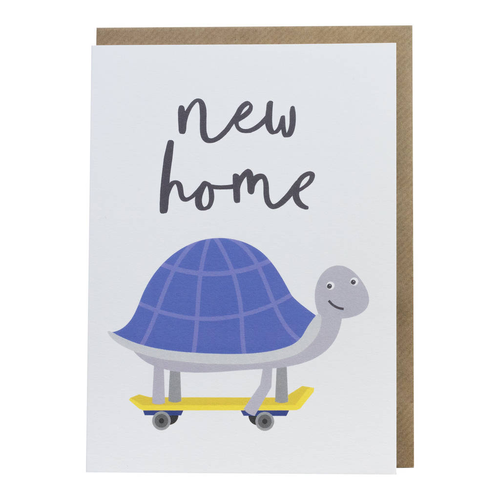 Tortoise new home greetings card by paperpaper tortoise new home greetings card kristyandbryce Image collections
