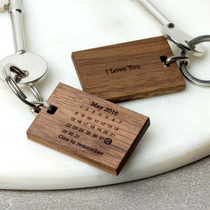 Personalised Never Forget Calendar Keyring - for him