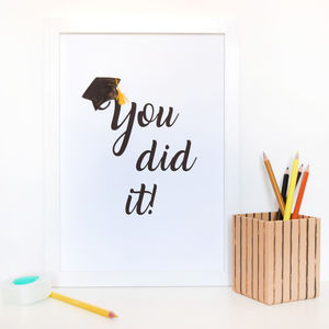 'You Did It!' Graduation Print - children's pictures & paintings