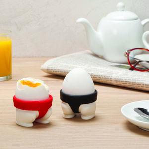 Sumo Wrestler Egg Cups - dining room