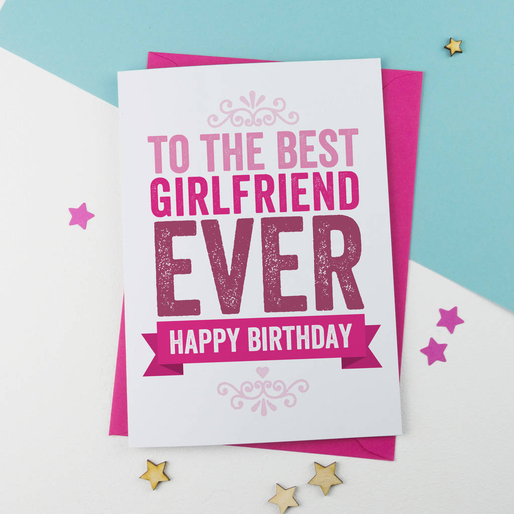 Birthday card for girlfriend by a is for alphabet birthday card for girlfriend bookmarktalkfo