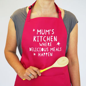 Personalised Delicious Meals Apron - kitchen linen