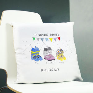 Personalised Ski Boot Family Cushion