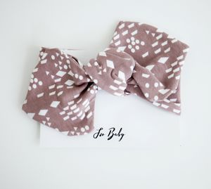 Plum Geometric Baby Bow