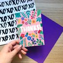 Colourful 'Thanks' Card