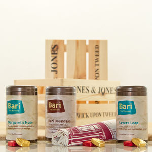 Bari Brewery Three Teas Gift Hamper Crate - drinks hampers
