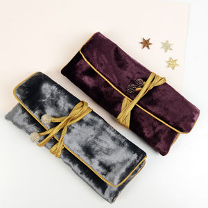 Luxury Velvet Jewellery Roll - jewellery storage & trinket boxes