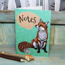 Fox Illustration Notebook With Lined Pages