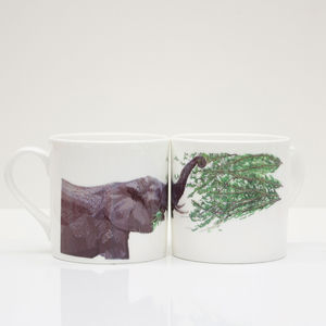 Elephant Bone China Mug - mugs