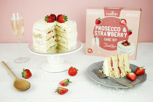 Prosecco And Strawberry Cake Kit - cakes & cupcakes