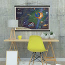 Cotton Solar System Space Print