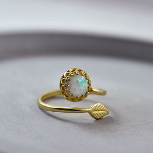 Gold Or Silver Opal Wrap Ring - rings